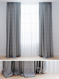 Curtains gray with tulle Modern curtains
