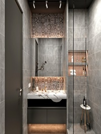 Modern nordic bathroom