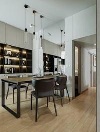 Full Residential House Interior Scene