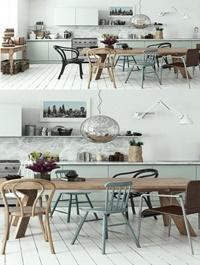 Scandinavian Style Kitchen Interior Scene