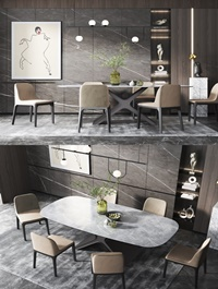 Modern dining table and chair combination