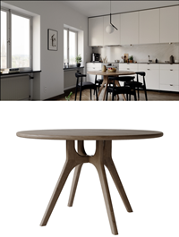 Modern wooden round dining table