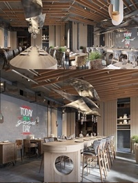 Interior Coffee Scene Sketchup Model by PhongLinh