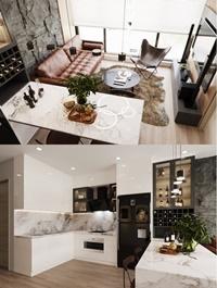 Kitchen Livingroom Scene By Huong Nguyen