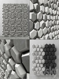Panel decorative hexagon Panel of hexagons