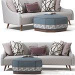 Jay Jeffers Custom Curved Sofa