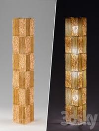 Bamboo rattan floor lamp