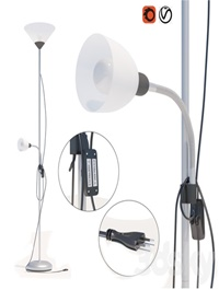 Leroy Merlin Basic floor lamp with reading lamp