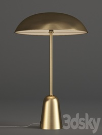 John Lewis LED Table Lamp Satin Brass