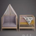 Baby cot Linea by Leander