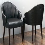 Design chairs with shaped armrests and cloves S07