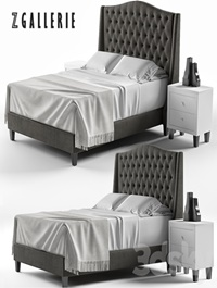 Scarlett Tufted Bed
