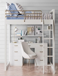 Waverly loft desk bed set from Pottery Barn