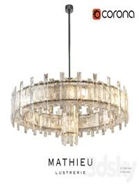 Regis Mathieu Lustrerie Saturne chandelier