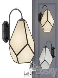 Sconce Geometry Glass Light Bra Milk