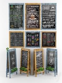 Restaurant chalkboard 05 plants