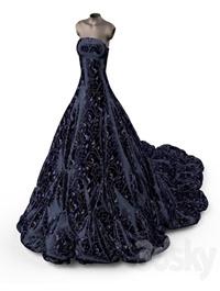 Evening dress on a mannequin