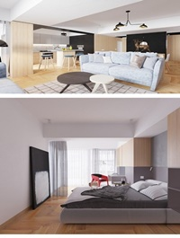 3D Interior Apartment Scene By HuynhNgocHieu