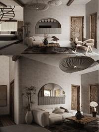 Residential House Interior Scene By Dat Nguyen