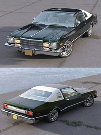 Plymouth Volare Coupe 1976 3D Model