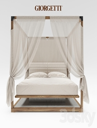 Ira Canopy bed by Giorgetti
