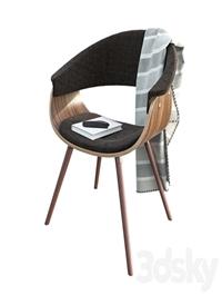 Zuo - Vintage mod accent chair walnut espresso