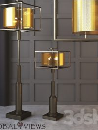 Global Views Double Shade Lamp and Floor Lamp