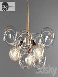 Pendant lamp Romatti Bubble glass chandelier by PELLE