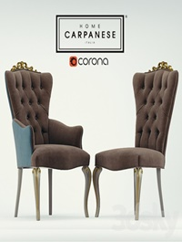 Chair and armchair Carpanese