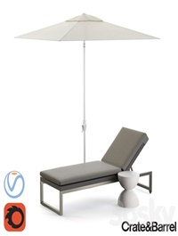 Dune Chaise Lounge with Sunbrella