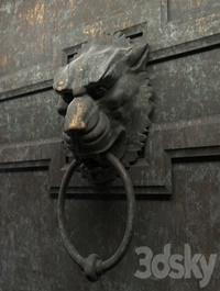 Ancient door handle in the form of a lion