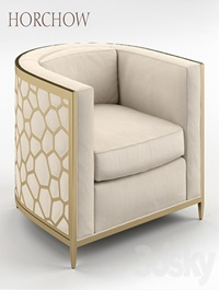 Golden Curved Chair Horchow