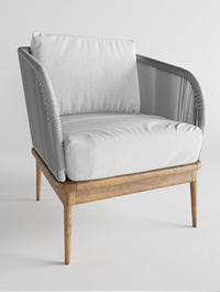 Corded Weave Outdoor Lounge Chair West elm