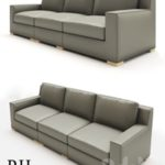 MODENA TRACK ARM MODULAR LEATHER SOFA SECTIONAL