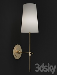 Adams Wall Sconce with Linen Shade