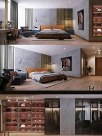 Modern Style Bedroom 569