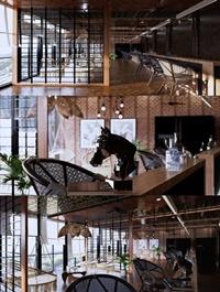 Interior Coffee room Scene Sketchup