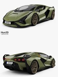 Lamborghini Sian with HQ interior 2020