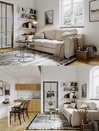 Scandinavian Style Living Room 10