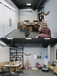 Christmas Office Room By TuanHoan