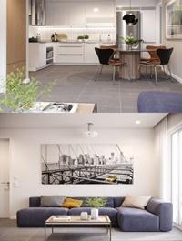 Kitchen Livingroom Scene By TrongNguyen
