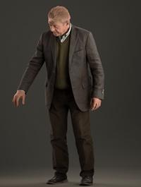 Senior Man Standing 3d model