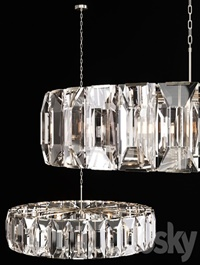 Restoration Hardware HARLOW CRYSTAL CHANDELIER 60 Nickel