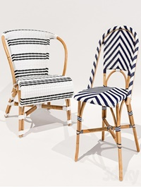 Monaco and Chevron Riviera chairs Serena and Lily