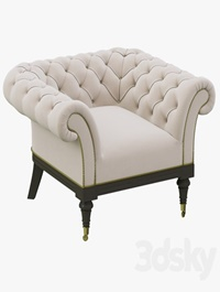 Restoration Hardware Islington Chesterfield Upholstered Chair