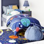 Bed Uptown Navy Blue Bed from Crate & Barrel curbstone Kids Uptown Navy Blue Nightstand