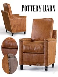 Tyler, Leather ,Armchair, Pottery ,Barn
