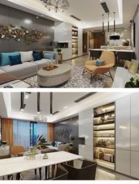 Kitchen Livingroom Scene By QuyGia