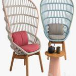 Kettal cala armchair wood feet