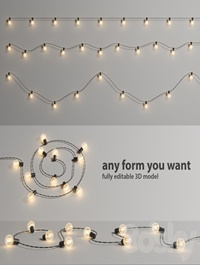 Editable Garland Lights Set 2